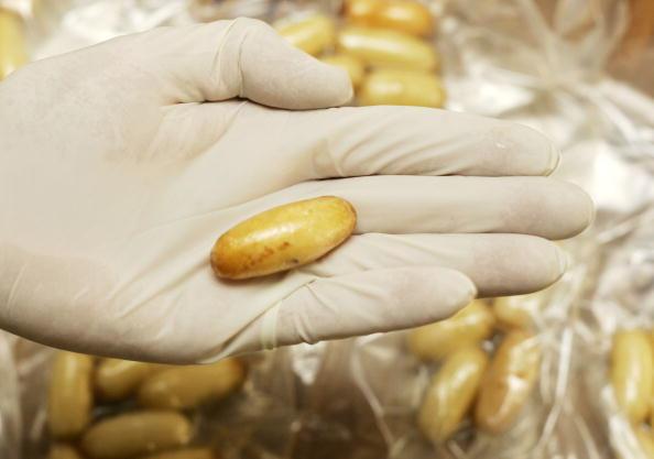 Capsulas de cocaina decomisadas por autoridades