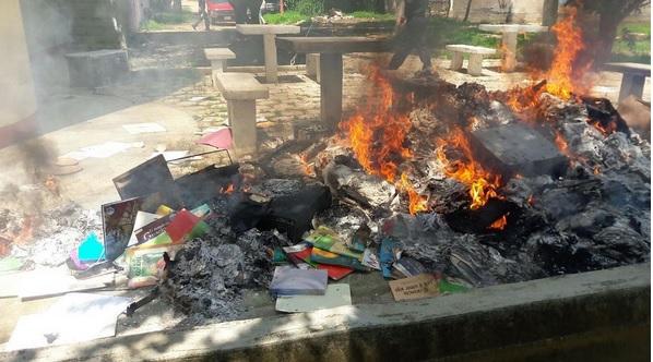 Cnte, Vandalizan, Oficinas de educacion, Chiapas, Protestas, Educacion