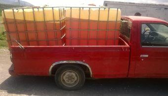Combustible robado, huachicol, huachicoleros, Pemex, Puebla, gasolina