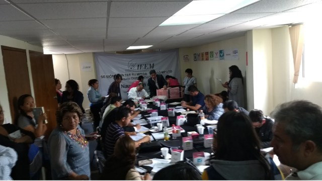 Sesion de consejo distrital en naucalpan