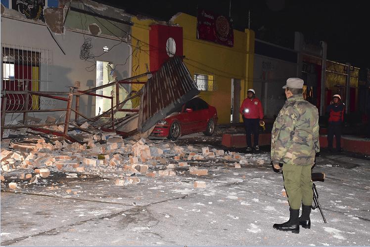 Daños estructurales en la cabecera de Quetzaltenango, Guatemala, tras sismo de 6.6 grados