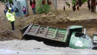 Tormenta Tropical Beatriz, Oaxaca, LLuvias, carreteras, daños, Clima