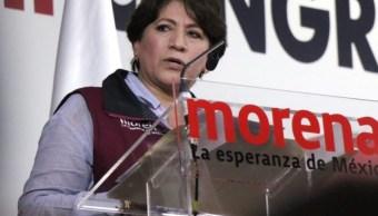 Delfina Gómez, candidata de Morena al edomex