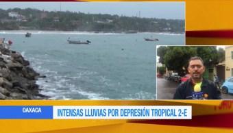 depresión tropical 2-E, tierra, Oaxaca, clases