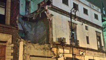 Derrumbe, edificio, CDMX, Centro, Donceles, Lluvia, tromba