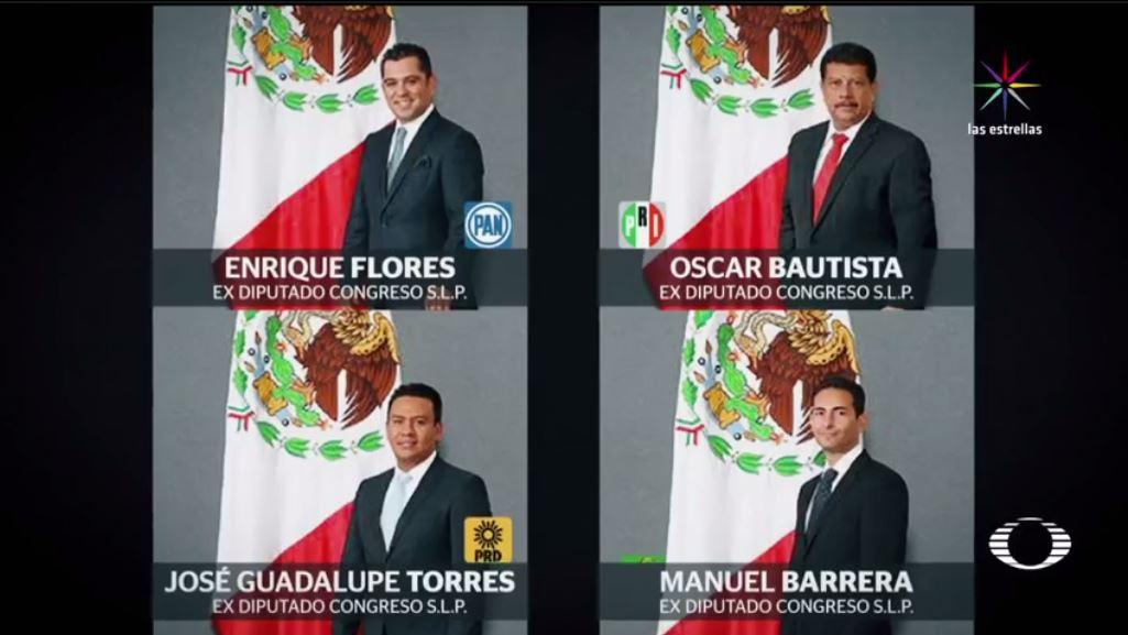 SLP, red de corrupción, Congreso, diputados, PRI, PAN, PRD, licencia