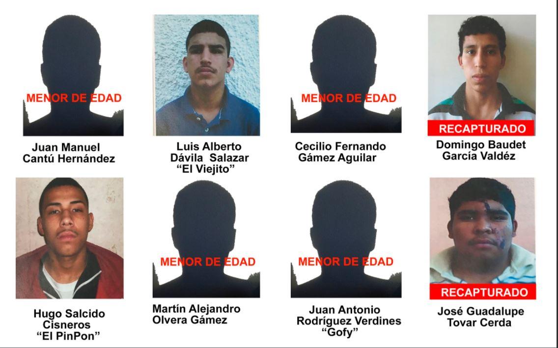 Se fugan 8 internos del Tutelar de Güémez