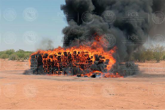 PGR incinera más de cinco toneladas de narcóticos en Sonora