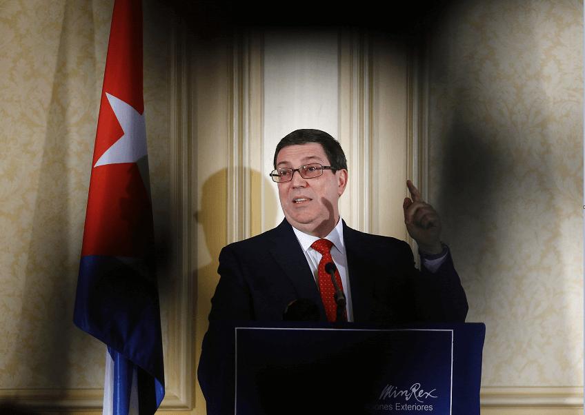 El canciller cubano Bruno Rodriguez en Viena