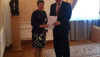 embajadora de mexico presenta cartas credenciales en rusia