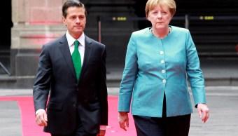 Enrique Peña Nieto y la canciller alemana, Angela Merkel