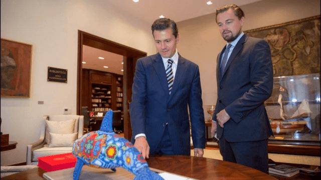 Enrique Peña Nieto y Leonardo DiCaprio (1)