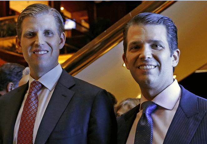 Eric Trump y Donald Trump Jr.