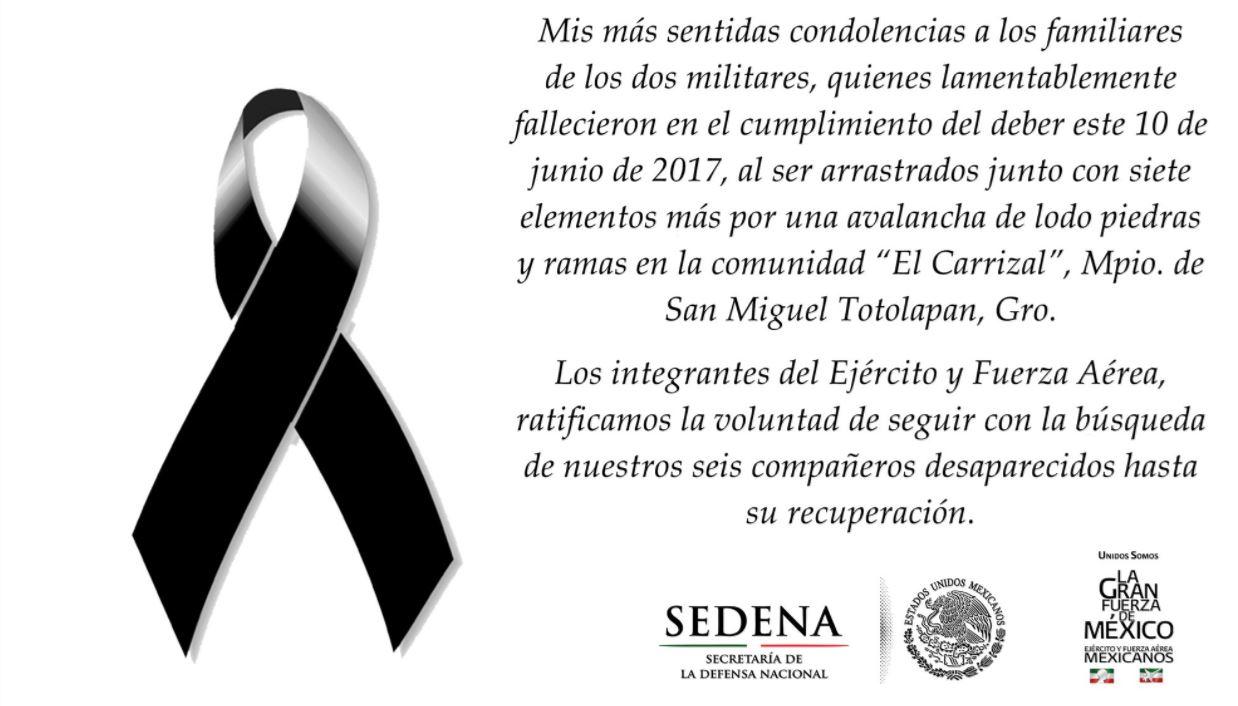 Secretario de la Defensa lamenta muerte de militares en Guerrero ...