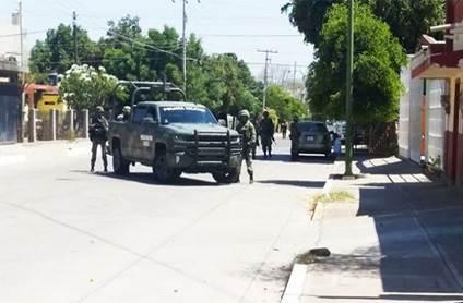 Militares vigilan zona de balacera