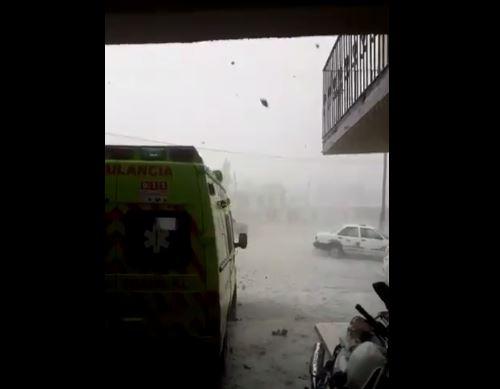 Granizo afecta el municipio de Galeana, Nuevo León