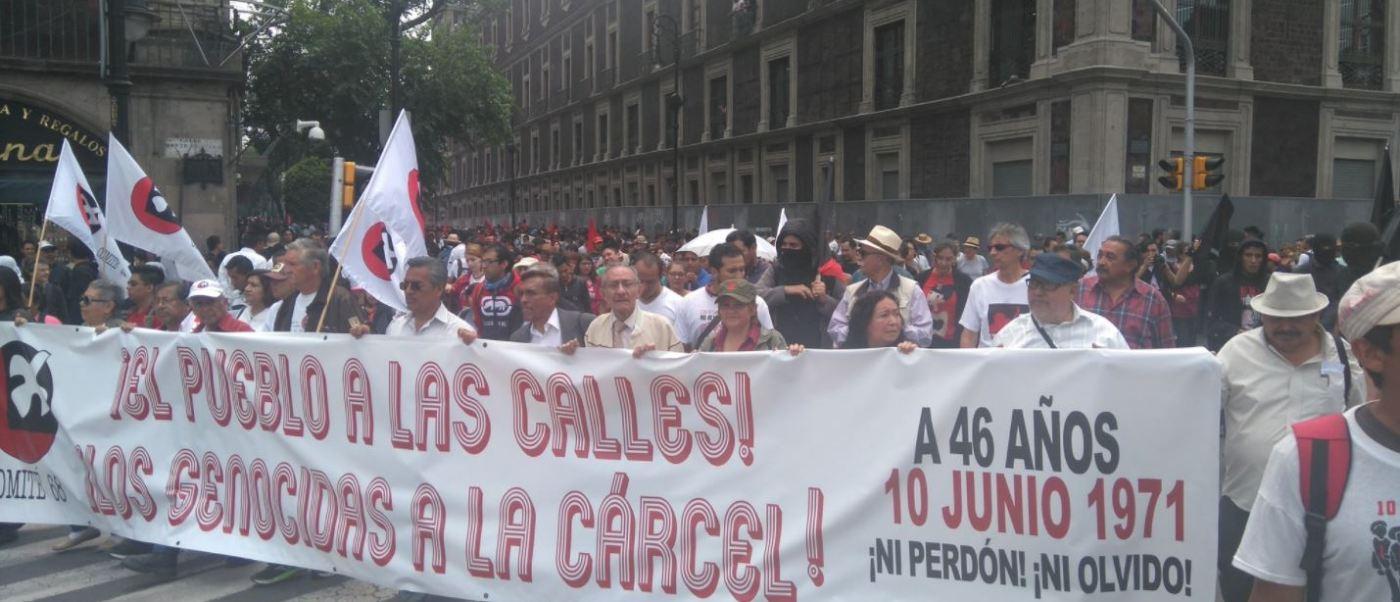 Sin incidentes concluye marcha por el 46 aniversario del Halconazo