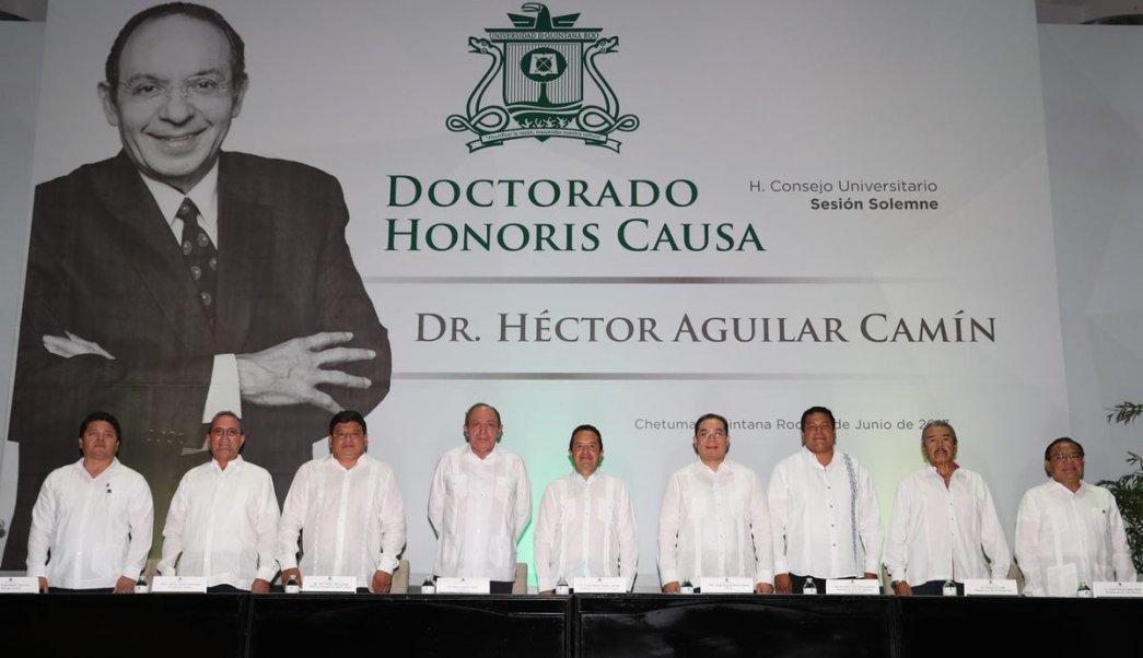 Héctor Aguilar Camín, honoris causa, Universidad, Quintana Roo, cultura, educación