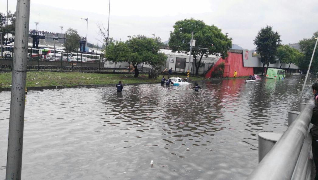 Inundación, Insurgentes Norte, lluvia, Cdmx