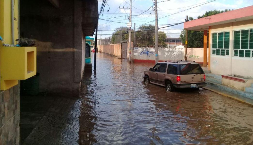 Intensas lluvias dejan daños materiales en Izúcar de Matamoros, Puebla.