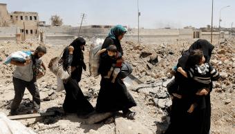 Iraquíes huyen de sus hogares debido a la violencia