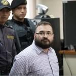 Javier Duarte acude a una audiencia en guatemala