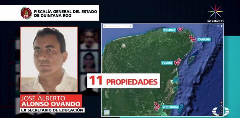José Alberto Alonso Ovando, investigado por la Fiscalía de Quintana Roo (Noticieros Televisa)