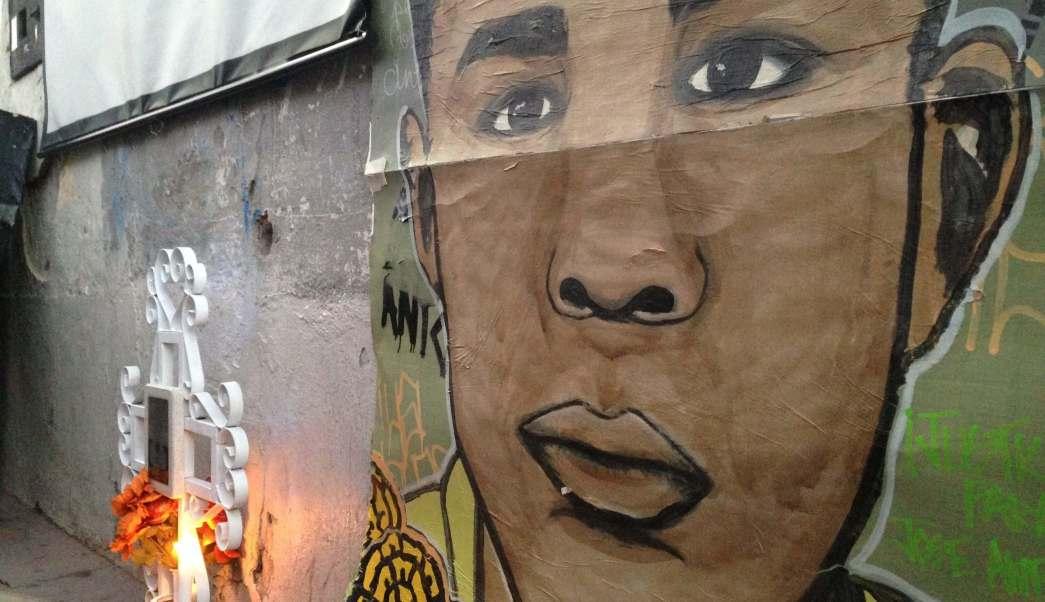Mural en memoria de José Antonio Elena Rodríguez en Nogales