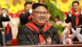 Kim Jong-un durante el VIII Congreso de la Organización de Niños de Corea (ONC) en Pyongyang