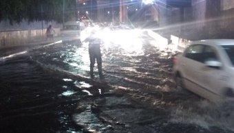 Lluvias en Periférico, Ciudad de México
