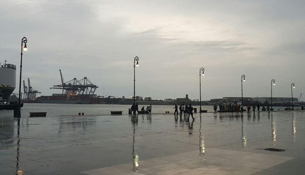 Puerto de veracruz afectado por las lluvias