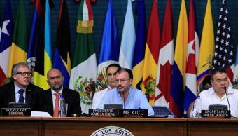 Luis Videgaray, presidente de la Asamblea de la OEA