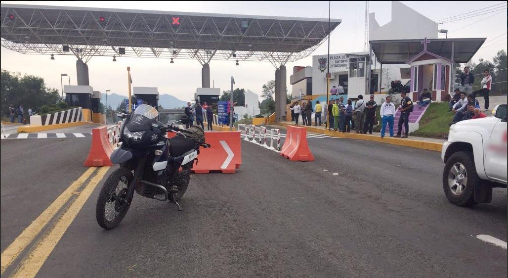 Cnte, Autopista siglo 21, Michoacan, Protestas, Operativo de seguridad