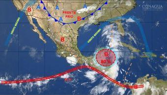mapa con el clima para este 19 de junio