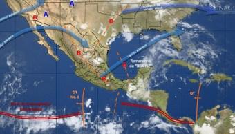 mapa con el clima para este 5 de junio