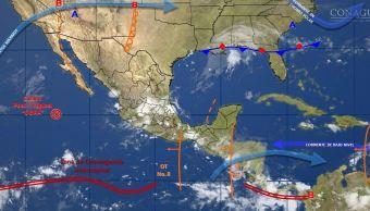 mapa con el pronostico del clima para este 29 de junio