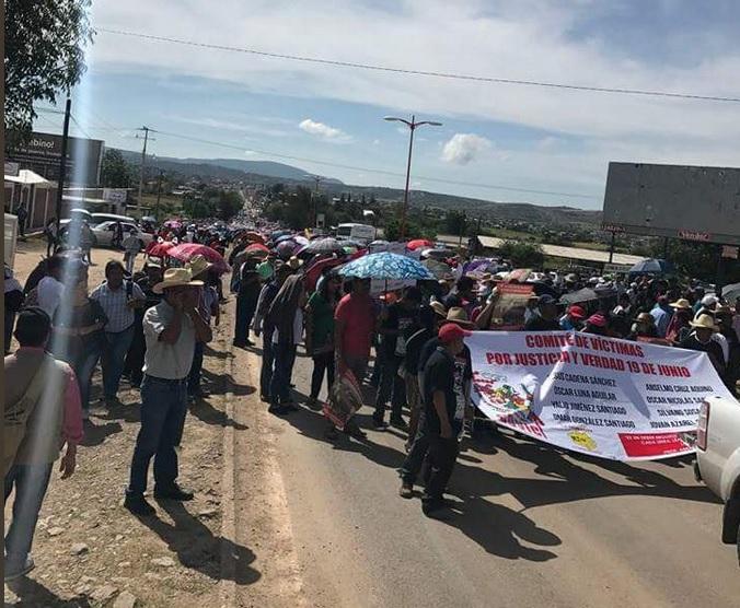 Un año, Caso Nochixtlan, Movilizacion, Oaxaca, protesta