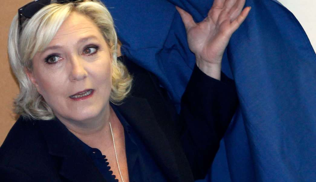 Marine Le Pen, líder del ultraderechista Frente Nacional de Francia