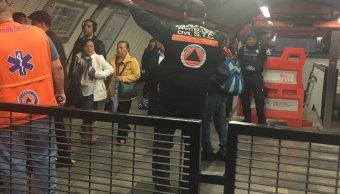 Metro, línea 7, barranca del muerto, Tacubaya, tromba, clima, cdmx