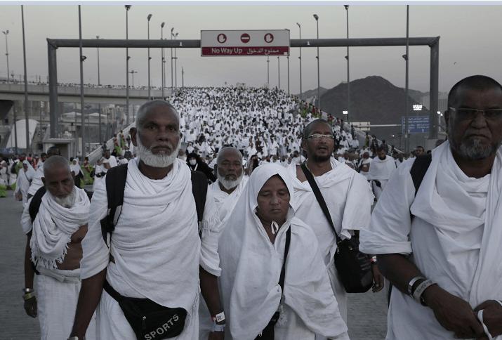 Miles de personas realizan cada año el peregrinaje a La Meca, en Arabia Saudita