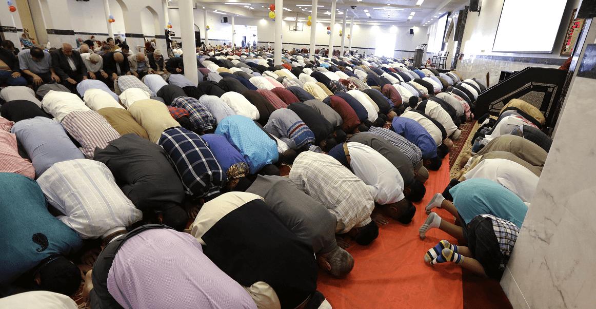 Musulmanes en Mezquita Redmond de la Asociación Musulmana de Puget Sound