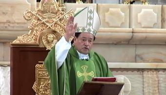 Norberto Rivera llama a superar el temor con fe y esperanza