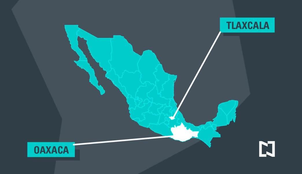 Mapa de México, Oaxaca, Tlaxcala, elecciones, 4 de junio,