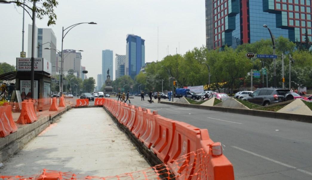 Detienen obras del metrobus sobre reforma