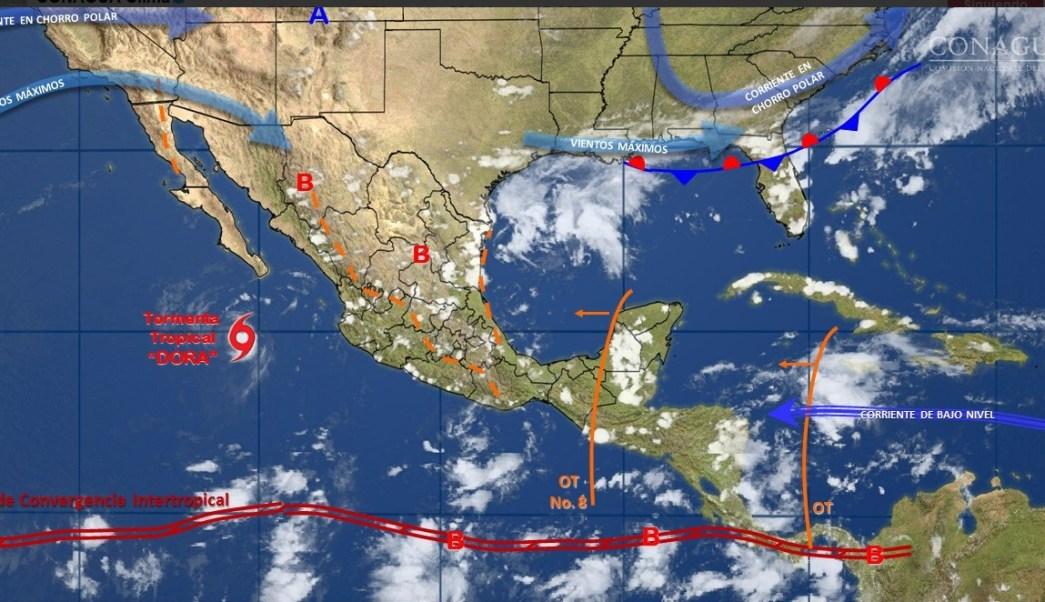 Onda tropical, Luvias, Clima, Campeche, Q. roo, Yucatan,