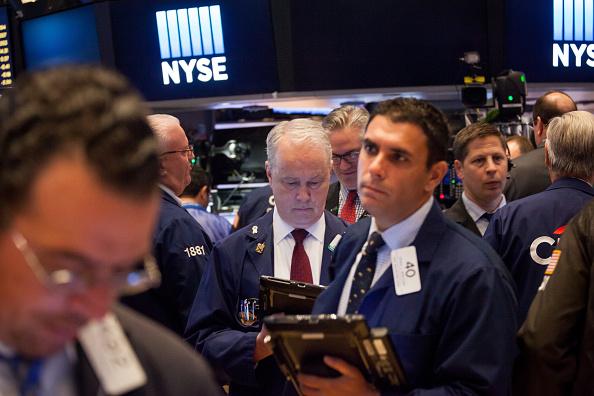 Operadores en la Bolsa de Nueva York