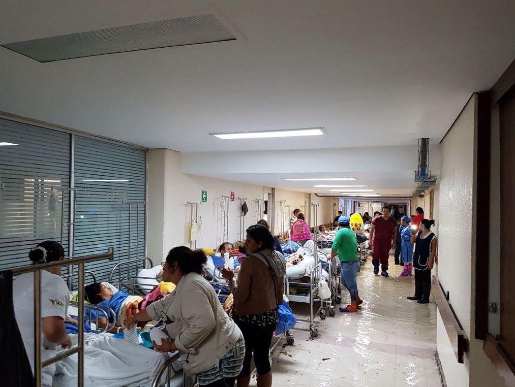 Así se inundó el Hospital La Villa