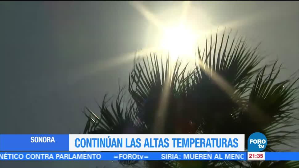 Persisten, altas, temperaturas, Sonora, ola calor, clima