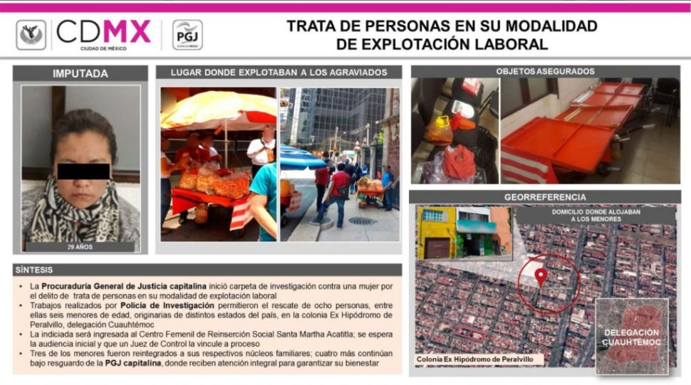 PGJ CDMX rescata a víctimas de explotación laboral infantil
