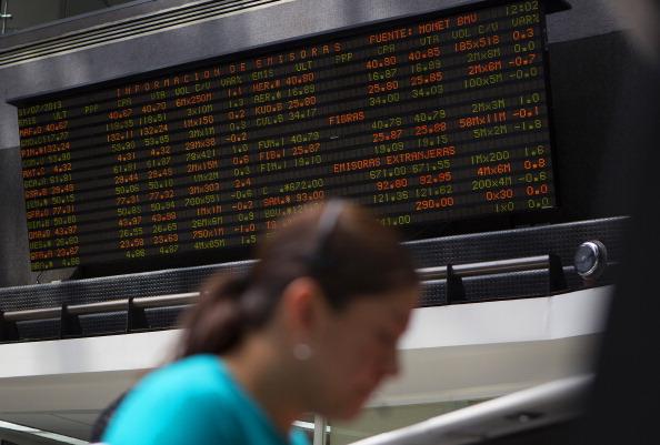 Piso de operaciones de la Bolsa Mexicana de Valores